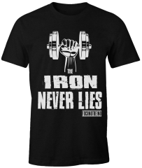 Camiseta Foca no Treino The Iron Never Lies Preta