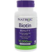Biotina - Natrol 10.000mcg (100 Cápsulas)