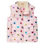 Colete GAP - Rosa Com Corações Coloridos