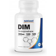 Dim (indol 3 Carbinol) Plus 300mg + Bioperine - Nutricost (120 cápsulas)