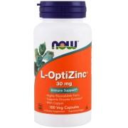 L-Optizinc - Now Foods - 30mg (100 cápsulas)