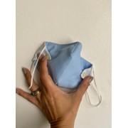 Máscara de Proteção Reutilizável 3D - Adulto | Azul Claro