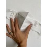 Máscara de Proteção Reutilizável 3D - Adulto   Branca