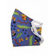 Máscara de Proteção Reutilizável - Infantil Azul