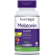 Melatonina Natrol - Fast Dissolve - Sabor Morango - 10mg (200 Tabletes)