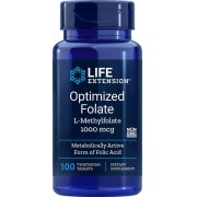 Optimized Folate (L-Methylfolate) - Life Extension - 1000mcg (100 Cápsulas veg)