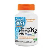 Vitamina K2 MK-7 - DOCTOR'S BEST 100mg (60 cápsulas)