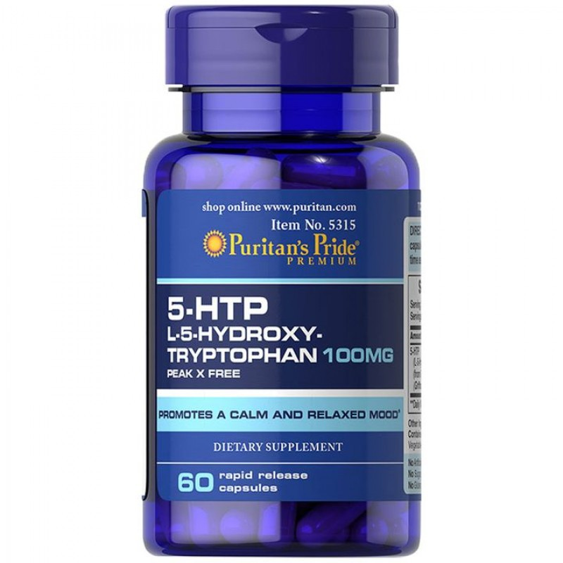 5HTP - Puritan's Pride - 100mg (60 Tabletes)