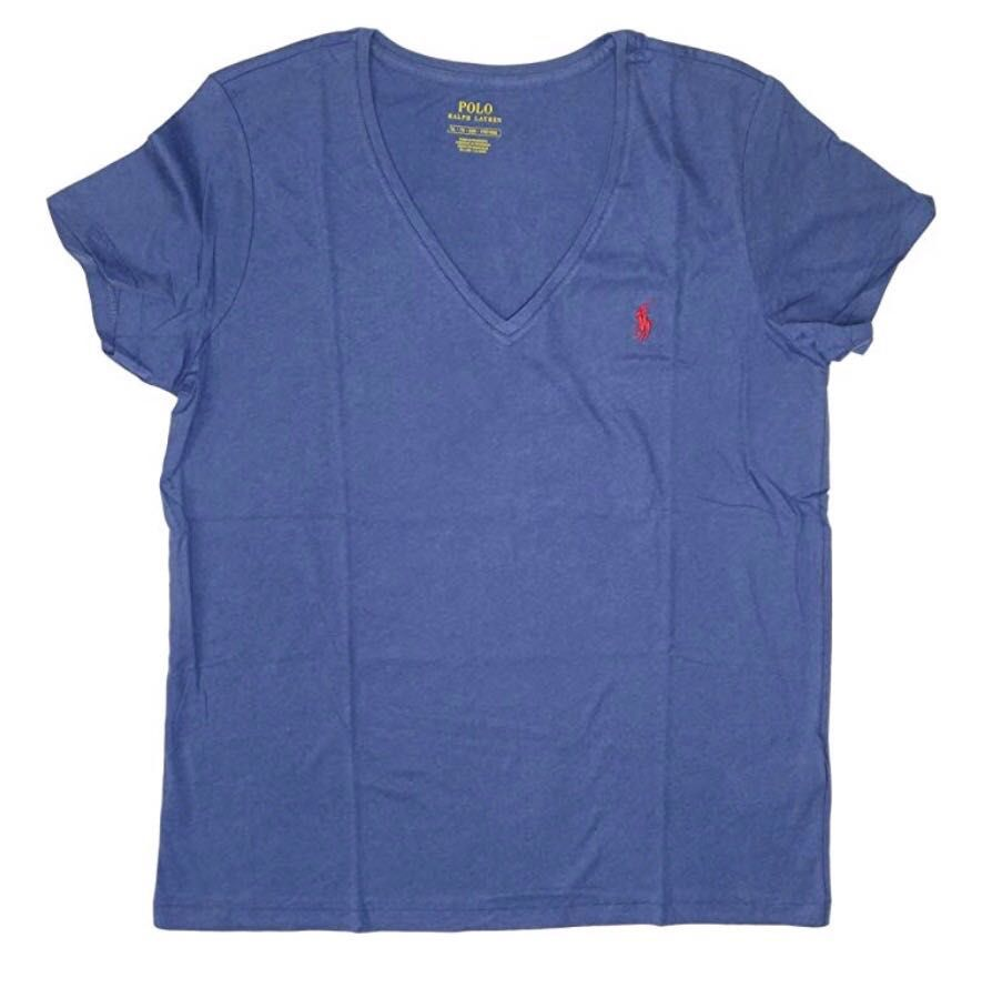 Camiseta Polo Ralph Lauren Gola V - Azul