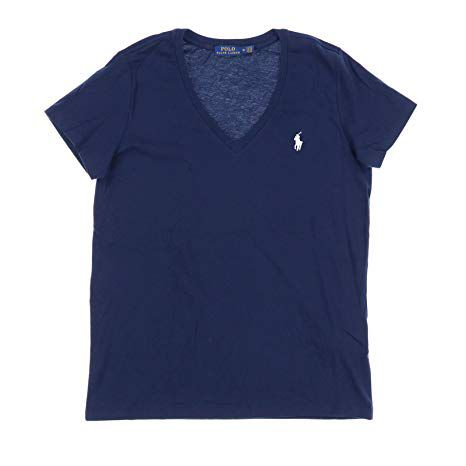 9cd1ae8d13f0f Camiseta Polo Ralph Lauren Gola V - Azul Marinho - Delivery Mimos -  Importados ...