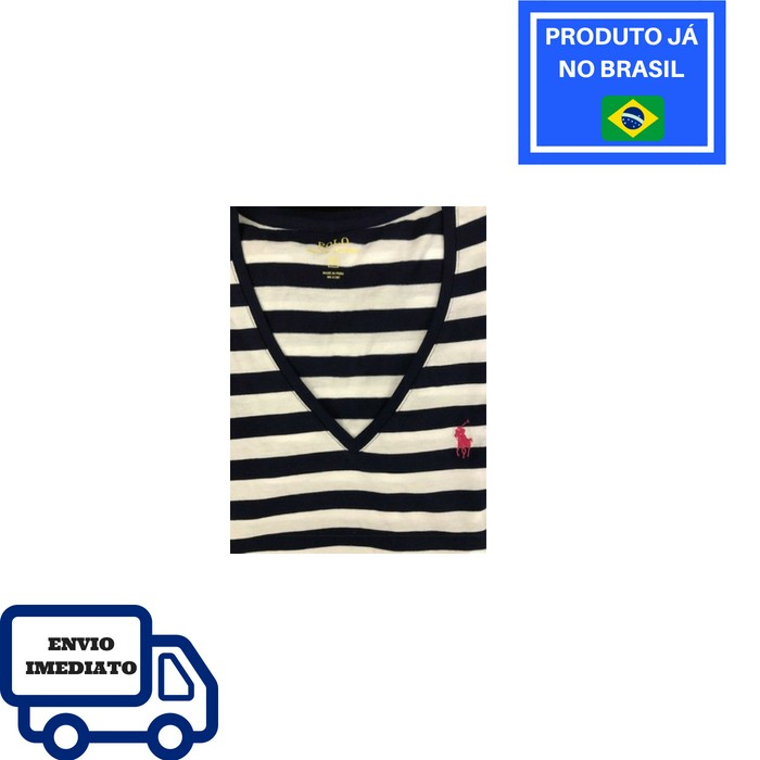 Camiseta Polo Ralph Lauren Gola V - Listrada d9cb1dcac2f
