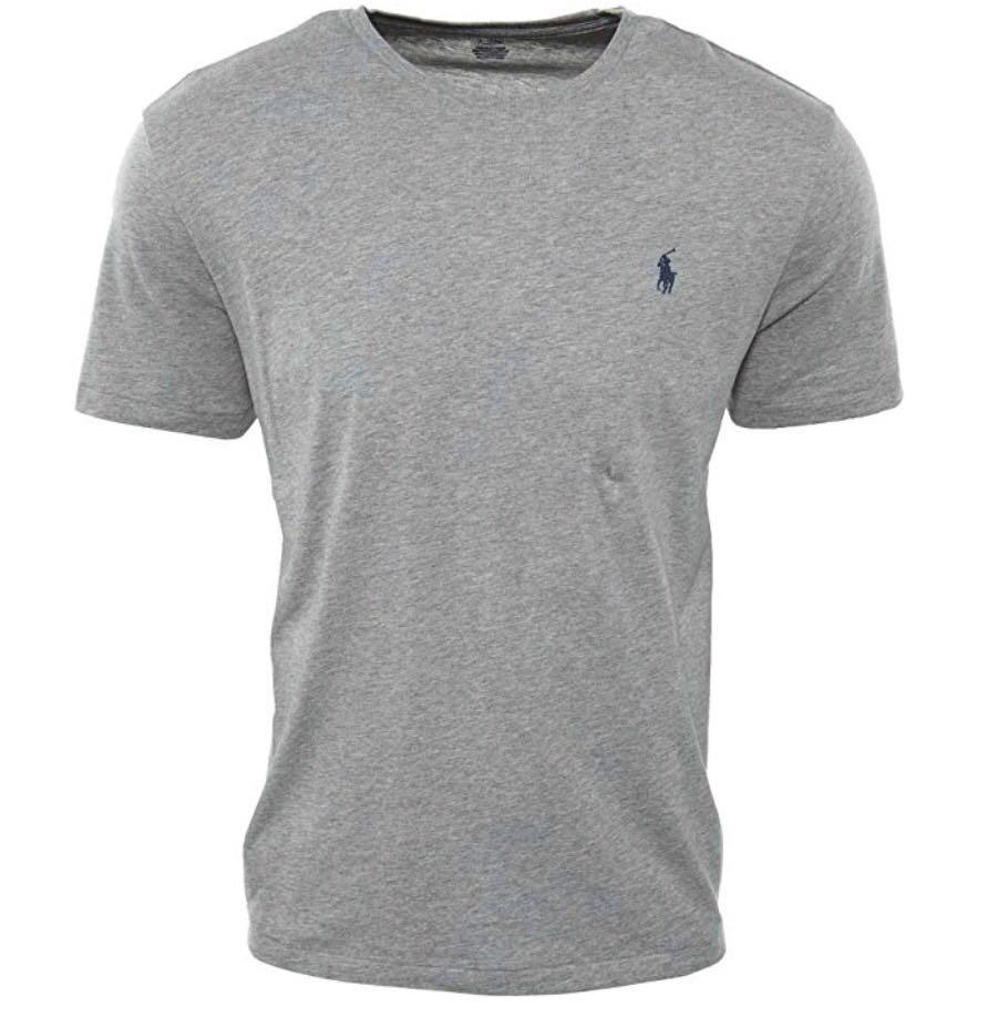 45af2b831f Camiseta Polo Ralph Lauren Gola Redonda - Cinza - Delivery Mimos -  Importados ...