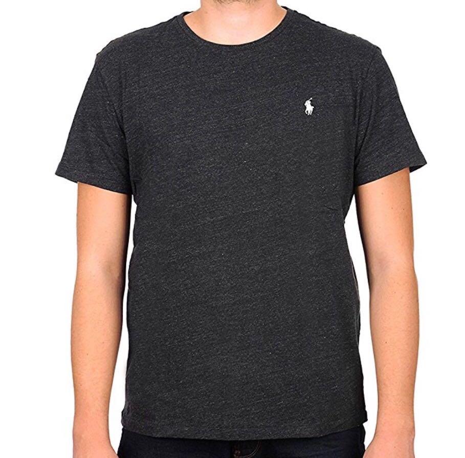 cae958620a Camiseta Polo Ralph Lauren Gola Redonda - Cinza Grafite