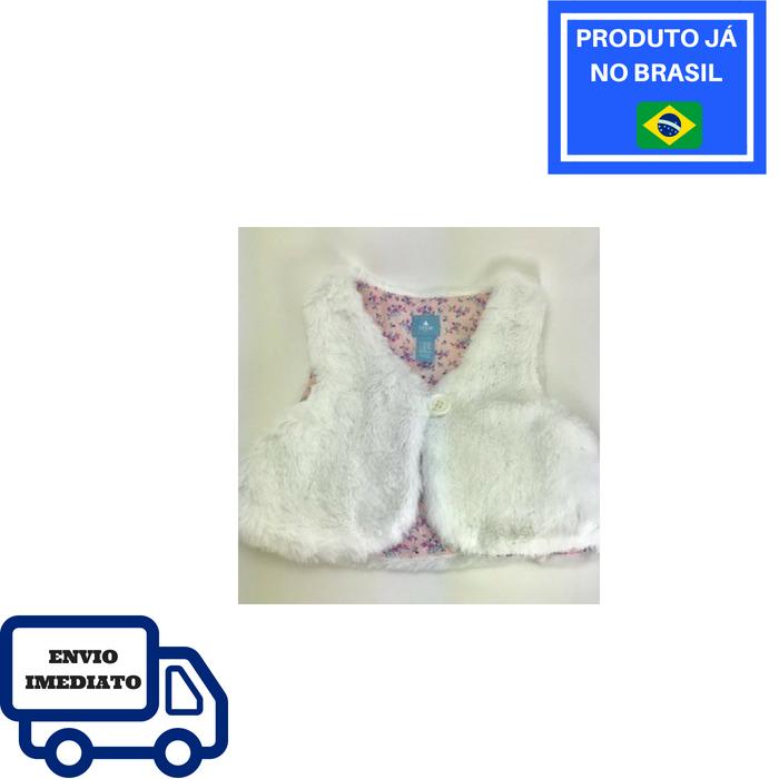 Colete Baby GAP - Branco Com Forro Interno Floral