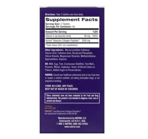 Collagen Skin Renewal - Natrol (120 Tablets)