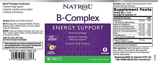 Complexo B Natrol 90 caps - Sabor Coco