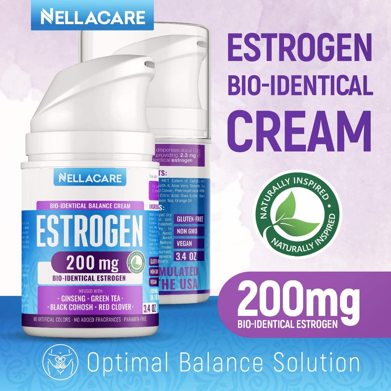 Creme de Estrogênio Bioidentical - Nellacare - 200mg