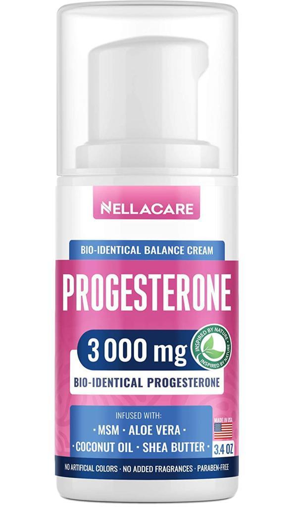 Creme de Progesterona Bioidentical - Nellacare - 3000 mg (148g)
