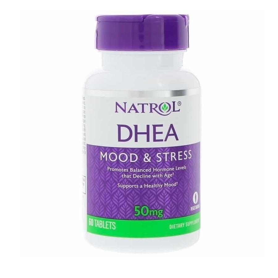 DHEA Natrol Mood & Stress 50 mg com 60 cápsulas