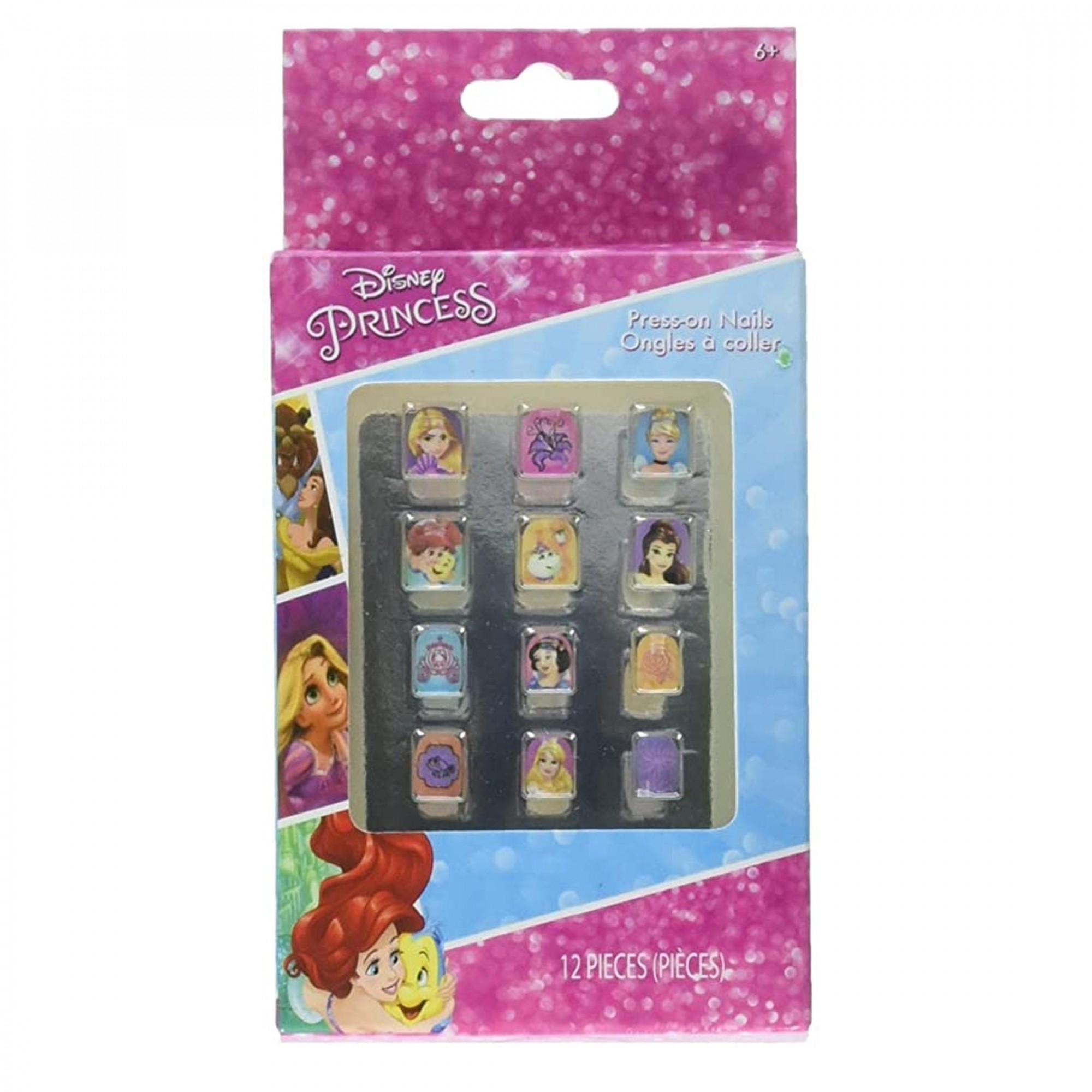 Disney Princess - Unha postiça I Princesas - 12 peças auto-colantes