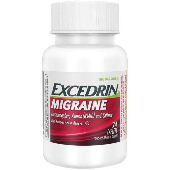 Excedrin Migraine - Alívio de enxaqueca (24 cápsulas)