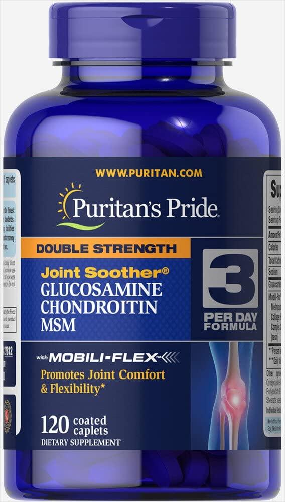Glucosamina, Condroitina e MSM - Puritans Pride - 1500mg(120Cáp)