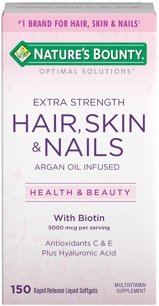 Hair, Skin E Nails - Nature's Bounty - 5000mcg (150 Cápsulas)