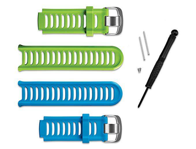 Kit Pulseira Garmin Forerunner 910xt Azul/verde Originais