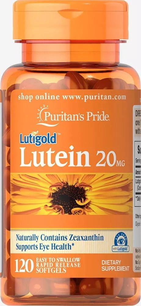 Luteina 20mg - Puritan's Pride (120 Tabletes)