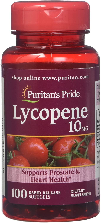 Lycopene 10mg Softgels - Puritan's Pride (100 cápsulas)