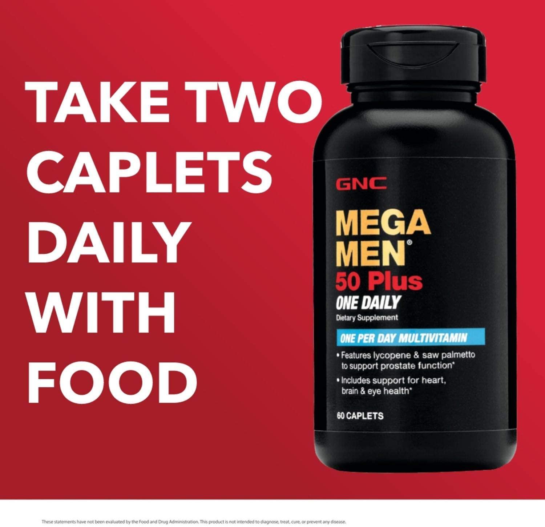 Mega Men Multivitamínico 50 Plus One Daily - GNC (60 Cáp)