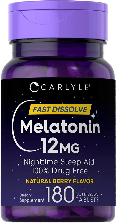 Melatonina Carlyle Fast Dissolve 12 mg 180 tabletes