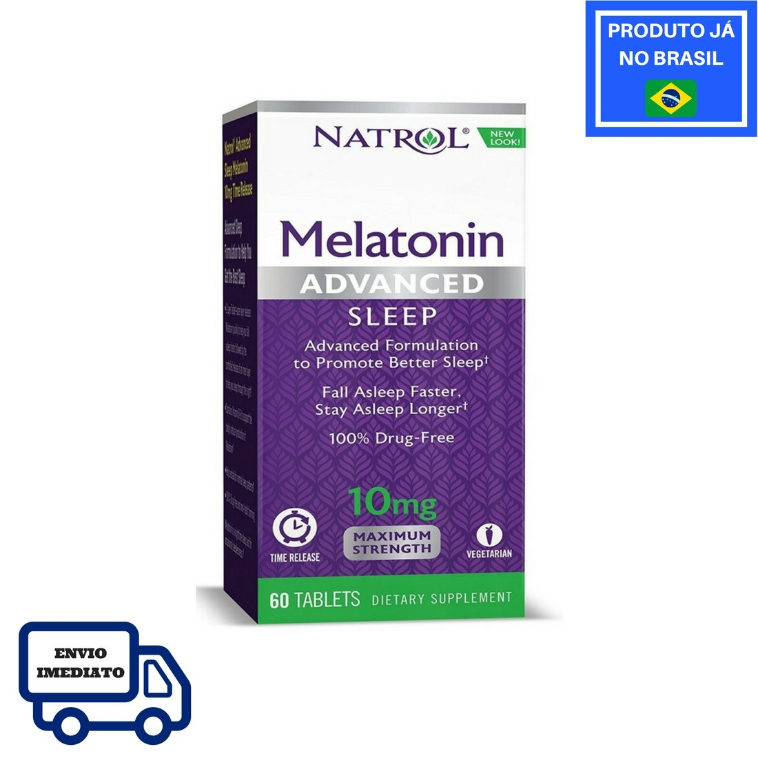 Melatonina NATROL - Advanced 10mg (60 tabletes)