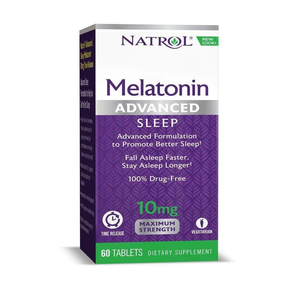Melatonina Natrol Advanced Sleep Time Release 10 mg 60 tabletes