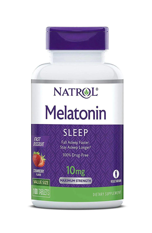 Melatonina Natrol Fast Dissolve 10 mg sabor morango 100 tabletes