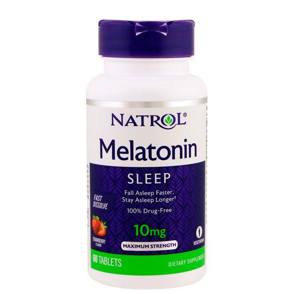 Melatonina Natrol Fast Dissolve 10 mg sabor morango 60 tabletes