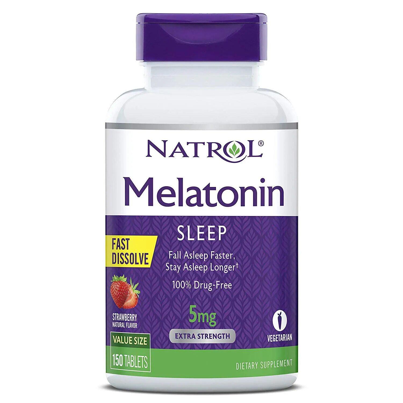 Melatonina Natrol Fast Dissolve 5 mg sabor morango 150 tabletes