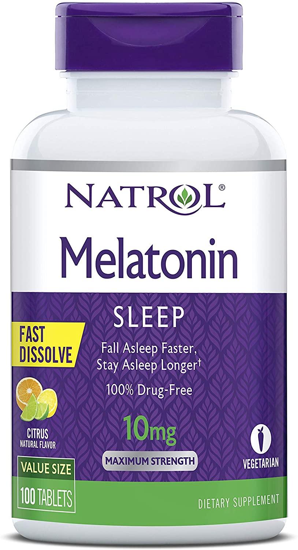 Melatonina Natrol - Fast Dissolve - Sabor Citrus 10mg (100 Tabletes)