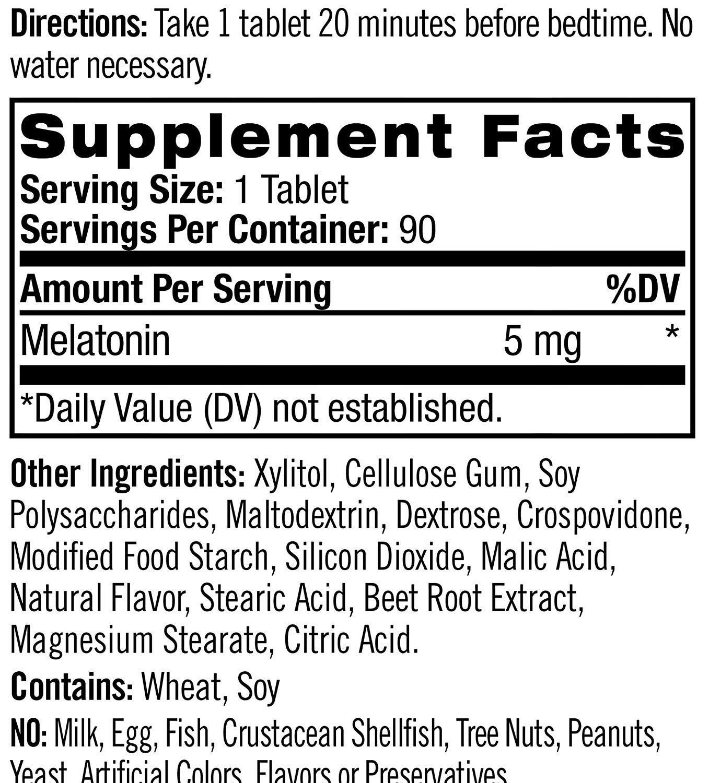 Melatonina Natrol - Fast Dissolve - Sabor Morango 5mg (90 Tabletes)
