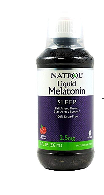 Melatonina NATROL Líquida sabor framboesa 237ml (2,5mg)