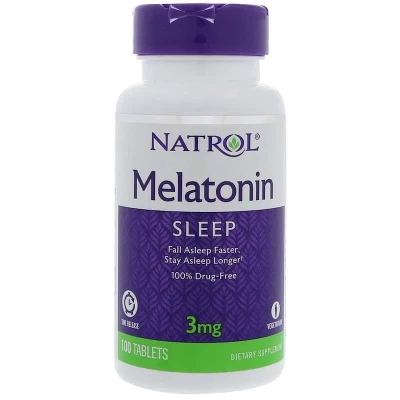 Melatonina Natrol Time Release 3 mg 100 cápsulas
