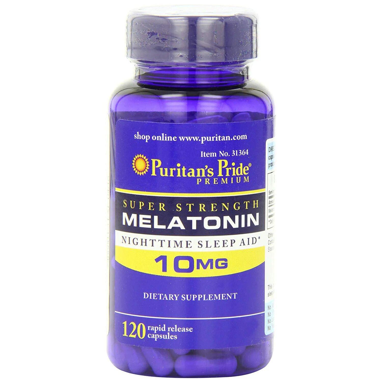 Melatonina Puritan?s Pride 10 mg 120 tabletes