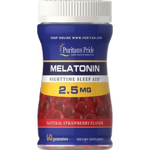 Melatonina Puritan's Pride - 2,5mg  (60 Goma)