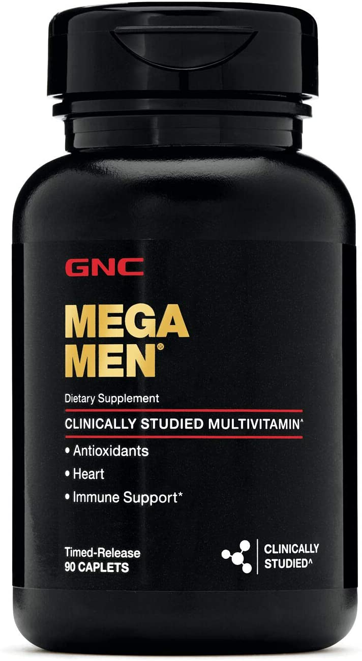 Mega Men Multivitamínico - GNC (90 Cápsulas)