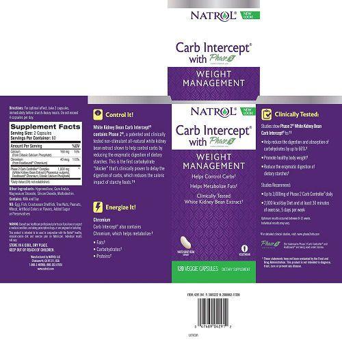 Bloqueador De Carboidrato -  Phase 2 - Natrol (120 Cápsulas Veganas)
