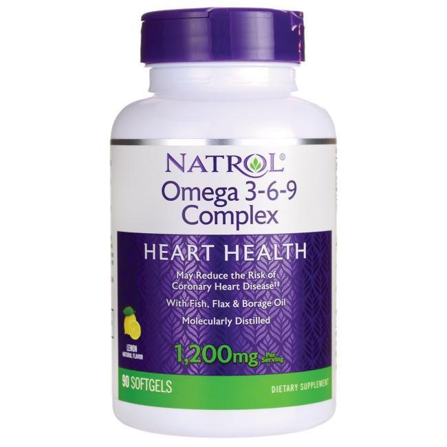 Natrol Omega 3-6-9 Complex Lemon - 1200 mg (90 Caps.)