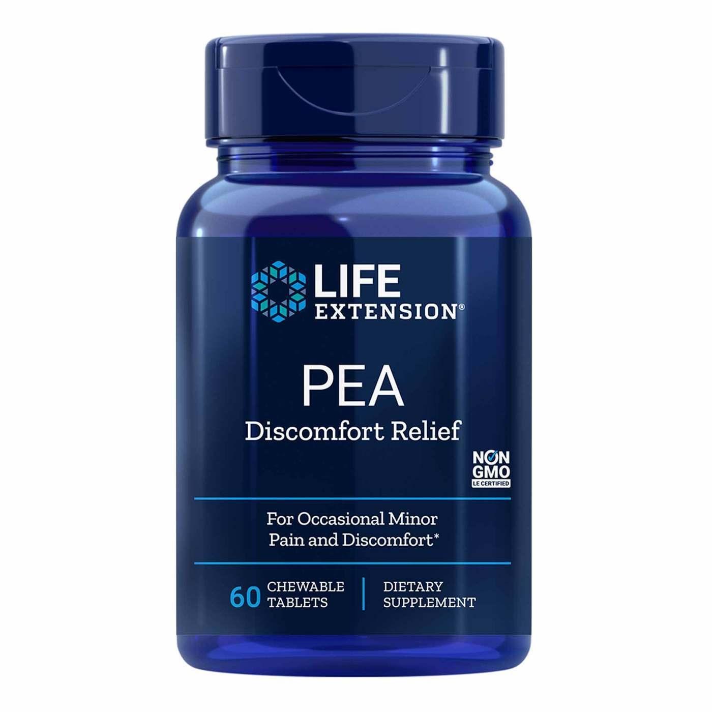 PEA - Alívio do Desconforto - Life Extension - 600mg (60 Tablets Mastigáveis)