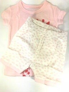 Pijama Baby GAP - Girafa Rosa