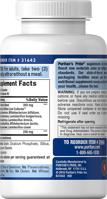 Probiótico 10 - Puritans Pride (120 cápsulas)