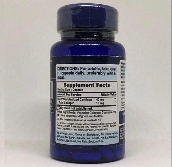 UC-II 40 mg - Puritan's Pride (30 Cápsulas)